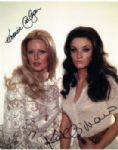 Veronica Carlson  & Kate O'Mara Hammer Horror Stars very rare signed 10 by 8 #3